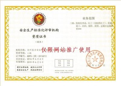 安全生產標準化評審機構資質證書二級副本.jpg